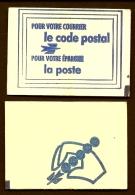 CARNET NEUF 8 VIGNETTES OFFICIELLES DE LA POSTE POUR LE CODE POSTAL- VILLE DE :  LE MANS 72000-  2 SCANS - Erinnophilie