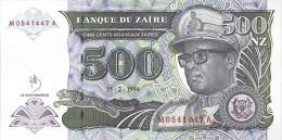 Zaire 500 Nouveaux Zaire 1994 Pick 63 UNC - Zaire