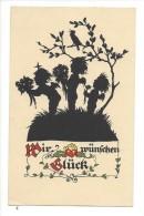 12367 - Wir Wünschen Glück Anges Et Oiseau - Silhouettes