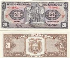 Ecuador - 20 Sucres 1988 UNC Ukr-OP - Ecuador