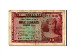 [#304356] Espagne, 10 Pesetas Type 1935 - [ 2] 1931-1936 : Repubblica