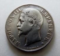5 FRANCS NAPOLEON III 1856  BB POID 25  GR   ARGENT SILVER  QUALITE - Francia