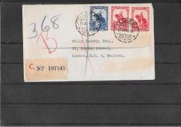 PERU´ 1936 Registred Cover To London (Ref 214) - Peru