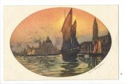 12375 - Paysage De Venice Et Voilier Signé Dauplum Paris-Gravures - Venezia (Venice)