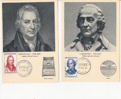 Carte Maximum  15-02-1958 Hommes Celebres - 1950-59