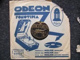 EXCELSIUS  - TURANDOT - O.DE BERNARDI  Con ORCHESTRA DELLA SCALA DI MILANO - 78 Rpm - Schellackplatten