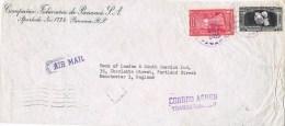 12582. Carta Aerea PANAMA 1955. Trasatlantic Aereo - Panamá