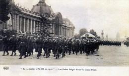 GEURRE-660-LE 14 JUILLET A PARIS EN 1916-LES POILUS BELGES-GRAND PALAIS-VOIR SCANNE. - Manifestazioni