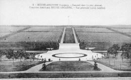 GEURRE-661-MEUSE-ARGONNE-CIMETIERE AMERICAIN 14095 TOMBES-VOIR SCANNE. - Funérailles