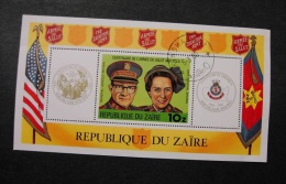 Zaire 968 Souvenir Sheet Block Salvation Army Cancelled 1980 A04s - 1980-89: Used