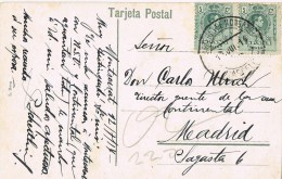 12593. Postal MONTSERRAT (Barcelona) 1914. Fechador Monasterio - 1889-1931 Kingdom: Alphonse XIII