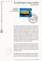 """Notice Officielle 1er Jour De 2002 """" LE PHOQUE VEAU MARIN """". N° YT 3488 . Parfait état !"""