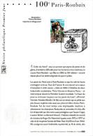 """★ Notice Officielle 1er Jour De 2002 """" 100° PARIS-ROUBAIX """" N° YT 3481. Parfait état ! - Wielrennen"""