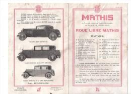 Automobile Mathis Strasbourg  Emysix Emyhuit  Emyquatre Roue Libre - Publicités