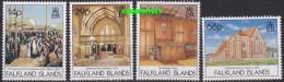 Falkland Islands 1992 Stanley Christ Church Cathedral 4v ** Mnh (21409) - Falklandeilanden