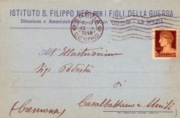 LA SPEZIA - CARTOLINA ISTITUTO S.FILIPPO NERI PER I FIGLI DELLA GUERRA - VG 1930 - La Spezia