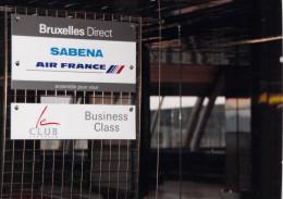 AVION - Aviation  Photo Format 12.5 X 18 Cms - AIR FRANCE  SABENA  Bruxelles Direct Business Class Le CLUB Européen - Aviation