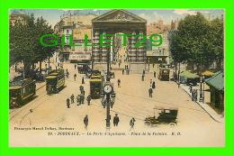 BORDEAUX (33) - LA PORTE D´AQUITAINE, ANIMÉE - PLACE DE LA VICTOIRE - M. D. - PHOTOTYPIE MARCEL DELBOY - - Bordeaux