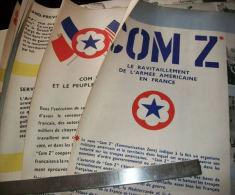 """WW2 AFFICHES COM Z   """"LE RAVITAILLEMENT DE L´ARMEE AMERICAINE EN FRANCE"""" 1944 - 1945. - 1939-45"""