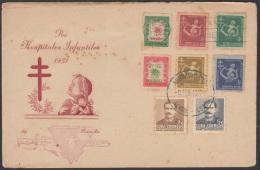 1951-FDC-19 CUBA. REPUBLICA. 1951. JOSE MACEO + SEMIPOSTAL BENEFICENCIA TUBERCULOSIS. RED CANCEL - Nuevos