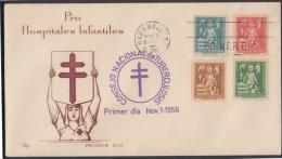 1956-FDC-17 CUBA. REPUBLICA. 1956. SEMIPOSTAL. CONSEJO DE TUBERCULOSIS. COVER COMPLETE SET. - Nuevos