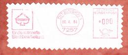 Ausschnitt, Absenderfreistempel, Trumpf Blechbearbeitung, 80 Pfg, Ditzingen 1984 (76596) - Covers & Documents