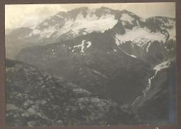 Valsavarenche, 13.8.1911, Il Monte Levanna Visto Dal Colle Nivolet, Fotografia D'epoca Cm. 10 X 7,5. - Lieux