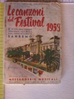 Libretto Delle Canzoni Del Festival Di San Remo - 3° Festival - 1953. B.B. - Livres, BD, Revues
