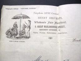 WHOLESALE HAIR MERCHANT MARCHAND DE CHEVEUX HAIRDRESSER WICMAKERS PERFUMERS PARFUM VENTISER LONDON METIER COIFFURE - United Kingdom