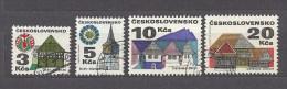 Czechoslovakia Tschechoslowakei 1972 Gest ⊙ Mi 2080-2083 Sc 1736A,37A,40A,41A Yv 1920-1923 Folk Architekturure II. C.2 - Czechoslovakia