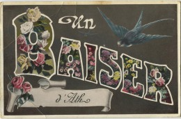 ATH :  Un Baiser  (  Zwaluw - Hirondelle ( Ecrit 1909 Avec Timbre )  Regarder Scan - Ath
