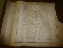 1818 Carte Département VIENNE Décrété1790 En 5 Arr. Et 31 Cantons,corrigé 1818 (Atlas National De France) - Geographical Maps