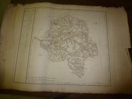 1818 Carte Département INDRE Et LOIRE Décrété1790 En 3 Arr. Et 23 Cantons,corrigé 1818 (Tours,Loches,Chinon) - Geographical Maps