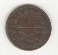 2/3 Skllining Suède / Sweden 1836 - Sweden