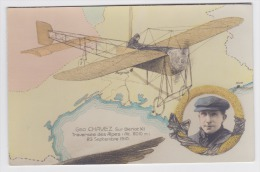 Cpa - Aviation - Geo Chavez Traversée Des Alpes ( 23 Sept 1910) - Aviatori