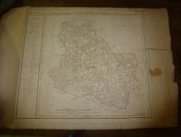 1818 Carte Département  YONNE Décrété1790 En 5 Arr. Et 37 Cantons,corrigé 1818 (Sens,Joigny,Auxerre,Tonnerre,Avallon) - Geographical Maps