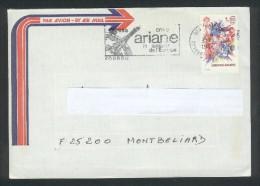 Lettre De La Guyane Kourou Pour La France - Flamme Ariane  31 05 80 - Guyana (1966-...)