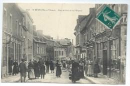 SAINT-MEEN - Rue De Gael Et De L'Hôpital - Belle Carte Ancienne (animée) - Francia