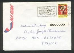 Madagascar - Lettre De Tananrive RP Pour La France - Flamme Izay Mandoro Tanery - 13 11 1978 - Madagascar (1960-...)