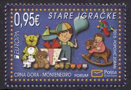 Montenegro 2015 Europa CEPT,  Old Toys,  MNH - Montenegro