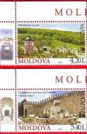 Moldova, 2 Stamps, Europe / Europa CEPT - Places To Visit, 2012 - 2012