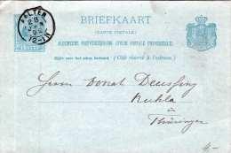 NEDERLAND 1892 - 5 Cent Ganzsache Auf Pk V. Aalten N. Ruhla
