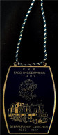 Messing-Plakette Faschingsexpress 1987 - Beerfurther Lieschen 1887-1987 - Fasching & Karneval