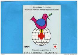 VENTE IMMEDIATE A PRIX NET-N° 2023-Carnet+rouge -année 1974- Neuf Impeccable***cote 9 Euros - Croix Rouge