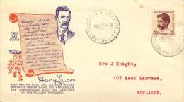 1949  Henry Lawson, Poet  SG 231 On Wide World FDC To USA - FDC