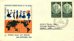 1962   Associated Country Women Of The World Pair On Royal FDC To USA  SG 344 - FDC