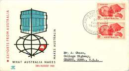 1963   Exports  Pair On Royal FDC To USA  SG 353 - FDC
