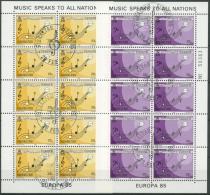 Gibraltar 1985 Europa: Jahr Der Musik 487/88 K Gestempelt (C30947) - Gibilterra