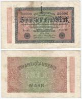 Alemania - Germany 20,000 Mark 1923 Pick-85-a Ref 72-5 - [ 3] 1918-1933 : República De Weimar