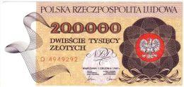 Poland 200000 Zlotych 1989 - SN# D 4949292 - Poland
